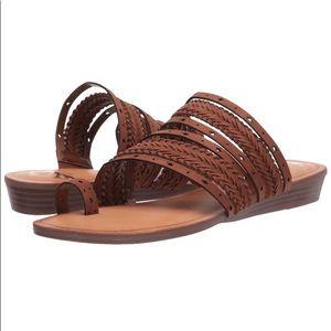 The Fergalicious™ Tatum sandal. Size 7.5. Brown.